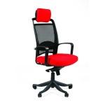 Кресло руководителя Chairman 283 иск. кожа, оранжевая, Dollaro 529, крестовина пластик