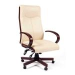 Кресло руководителя Chairman 411 иск. кожа, крестовина дерево