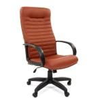 Кресло руководителя Chairman 480LT иск. кожа, крестовина хром, коричневый