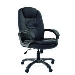 Кресло руководителя Chairman 668 иск. кожа, эко, черная, крестовина пластик