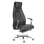 Кресло руководителя Chairman Fuga нат. кожа, крестовина хром, черная