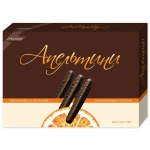 Мармелад Ударница в шоколаде, апельсиновые палочки, 160г