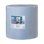 Протирочная бумага Tork Plus W1, 130050, в рулоне, 510м, 2 слоя, голубая