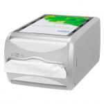 Диспенсер для салфеток Tork Interfold N4, 272500, настольный, на 400шт, серый
