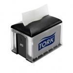 Диспенсер для салфеток Tork Interfold N4, 272608, настольный, на 200шт, черный