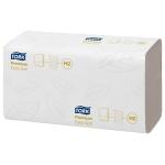 Бумажные полотенца Tork Premium H2, 100297, листовые, 100шт, 2 слоя, белые