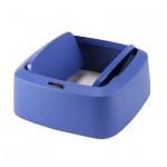 Крышка для контейнера Vileda Pro Ирис 60л, маятник, прямоугольная, синяя, 137745