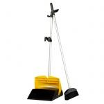 Совок для мусора Vermop с ручкой, с крышкой, черно-желтый, 089605