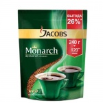 Кофе растворимый Jacobs Monarch 240г, пакет