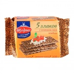 Хлебцы Щедрые 5 злаков, 200г, с семенами льна