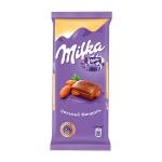 Шоколад Milka молочный с цельным миндалем, 90г