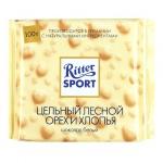 Шоколад Ritter Sport 100г с цельным лесным орехом и хлопьями, белый