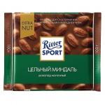 Шоколад Ritter Sport 100г с цельным миндалем, молочный