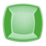 Тарелка одноразовая Horeca зеленая, глубокая, 18х18см, 6шт/уп