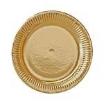 Тарелка одноразовая Bibo Gold Голд 23см, 10шт/уп