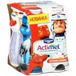Кисломолочный напиток Actimel Kids земляника-клубника, 100г х 4шт