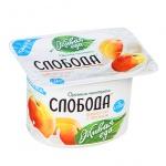 Йогурт Слобода персик, 2.9%, 125г