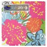 Салфетки Duni Felicia цветы, 33х33см, 3 слоя, 20шт