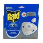 Таблетки от комаров и мух Raid для электрофумигатора на 30 ночей