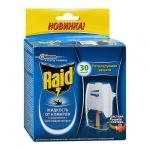 Средство от насекомых Raid на 30 ночей, электрофумигатор + жидкость, от комаров с регулятором