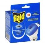 Средство от насекомых Raid на 30 ночей, электрофумигатор + жидкость, от комаров, 100 часов в подарок