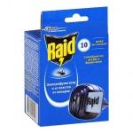Средство от насекомых Raid на 10 ночей, электрофумигатор + пластины, от комаров