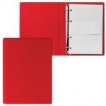 Тетрадь на кольцах Дпс красная, A5, 90 листов, в клетку, пвх