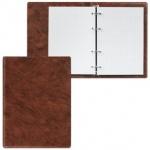 Тетрадь на кольцах Дпс коричневая, A5, 90 листов, в клетку, пвх