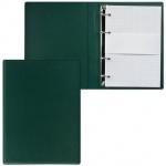 Тетрадь на кольцах Дпс зеленая, A5, 90 листов, в клетку, пвх