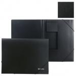 Пластиковая папка на резинке Brauberg Стандарт черная, А4, до 300 листов