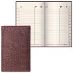 Телефонная книга Brauberg Cayman А7, коричневая, 56 листов, кожзам