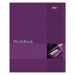 Тетрадь общая Hatber WorkBook фиолетовая, A5, 96 листов, в клетку, на сшивке/склейке, мелованный картон