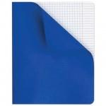 Тетрадь общая Hatber синяя, A5, 96 листов, в клетку, на скрепке, пластик