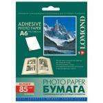 Фотобумага для струйных принтеров Lomond А6, 25 листов, 85 г/м2, глянцевая, самокл., 2413003
