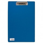 Клипборд без крышки Brauberg Comfort синяя, А4, 222659