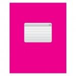 Тетрадь общая Hatber розовая, А5, 48 листов, в клетку, на скрепке, мелованный картон