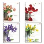 Тетрадь общая Hatber Цветы, A5, 96 листов, в клетку, на спирали, мелованный картон/ лак