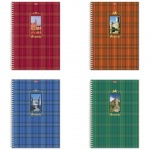 Тетрадь общая Hatber Шотландка, A4, 80 листов, в клетку, на спирали, мелованный картон