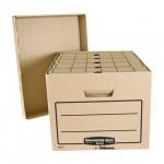 Архивный короб Fellowes Bankers Box Basic коричневый, 335х270х445мм, с крышкой