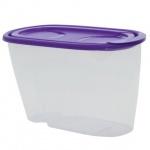 Банка для сыпучих продуктов Idea 0.9л, пластик, с плотно прилегающей крышкой с дозатором