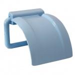 Держатель туалетной бумаги М-Пластика 2225 голубой, пластиковый