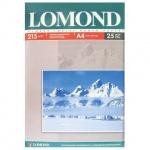 Фотобумага для струйных принтеров Lomond А4, 25 листов, 210 г/м2, глянцевая, односторонняя, 0102080