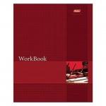Тетрадь общая Hatber WorkBook красная, А5, 96 листов, в клетку, на сшивке/склейке, мелованный картон