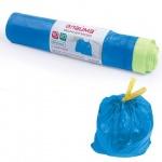 Мешки для мусора Лайма Прочные 60л, синие с завязками, 12мкм, 20шт/уп