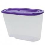 Банка для сыпучих продуктов Idea 1.5л, пластик, с плотно прилегающей крышкой с дозатором