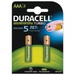 Аккумулятор Duracell AAA/HR03, 850mAh, 2шт/уп