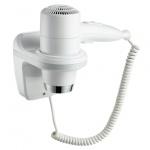 Фен настенный Ksitex F-1800 W белый, 1800Вт, 2 скорости+холодный воздух