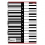Тетрадь для нот Hatber Клавиши, А4, 24 листа, вертикальная, на спирали, мелованный картон