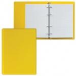 Тетрадь на кольцах Дпс желтая, A5, 90 листов, в клетку, пвх