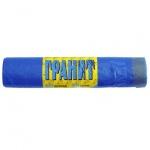 Мешки для мусора Гранит Прочные 60л, синие с завязками, 15мкм, 20шт/уп